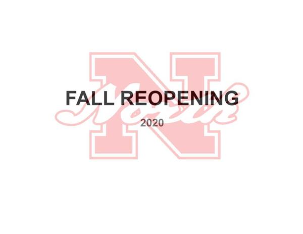 Superintendent Holcomb's Fall Reopening Presentation to School Committee ~ August 3, 2020
